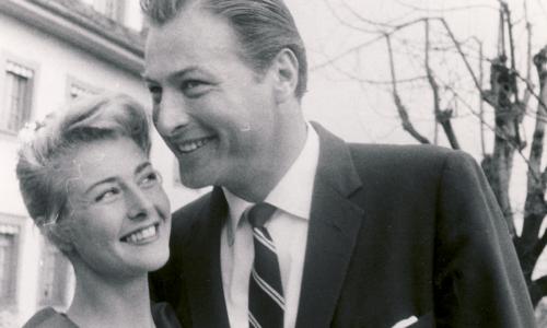 Lex Barker mit Frau